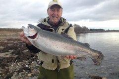 01-12-2017, Storebælt, Regnbueørred 3,900 kg, 55,0 cm, Erik Wilson