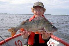 04-08-2012, Tissø, Aborre 1,300 kg, 47,0 cm, Lene Olsen