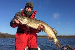 19-01-2020, Tystrup Sø, Gedde 9,100 kg, 105,0 cm, Christian Karlsen